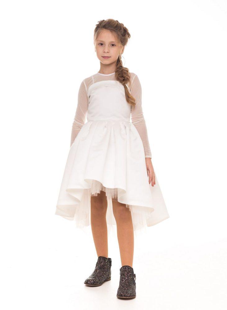 Светлое платье на девочку из атласа от Malyna