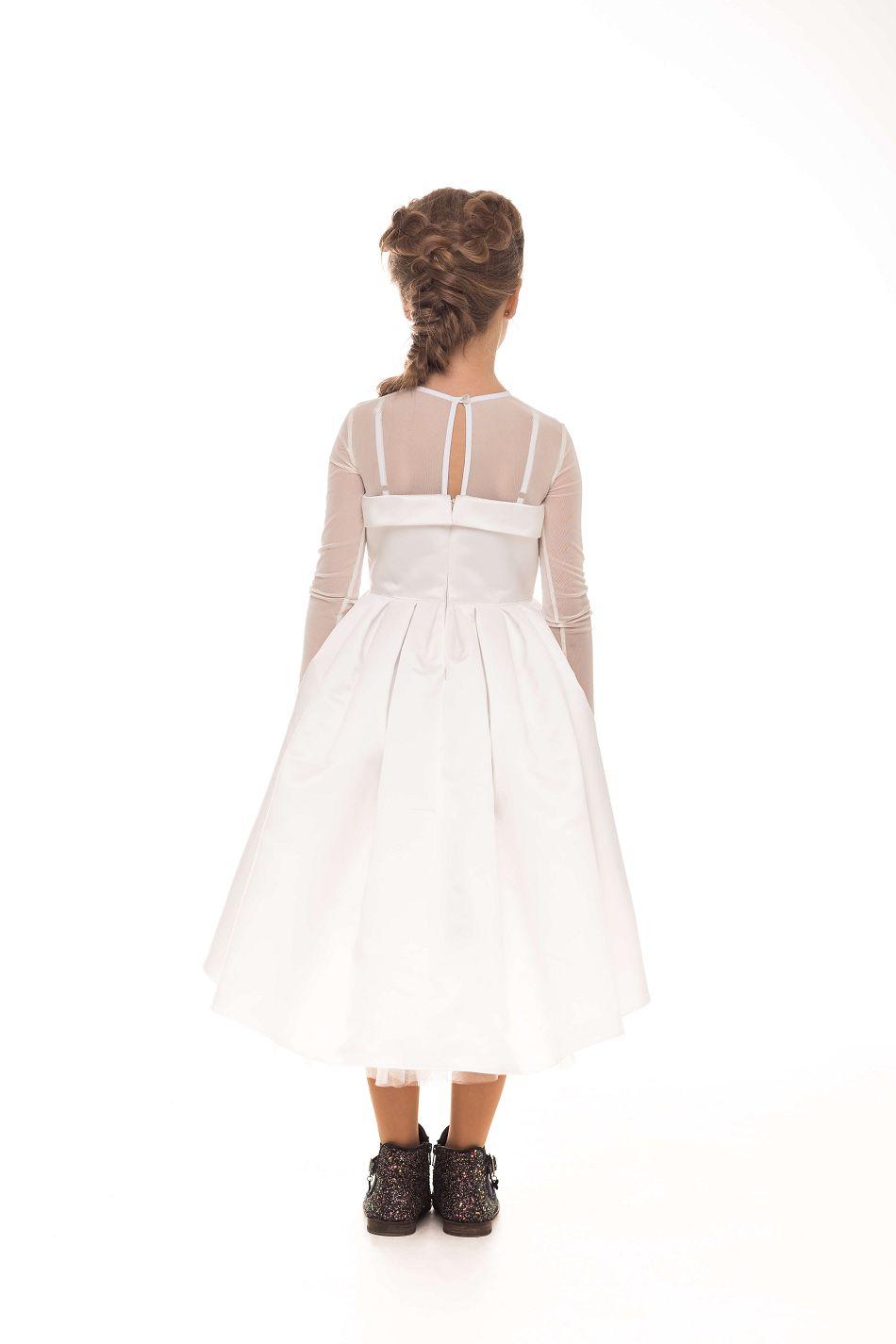 чарівна біла сукня на дівчинку