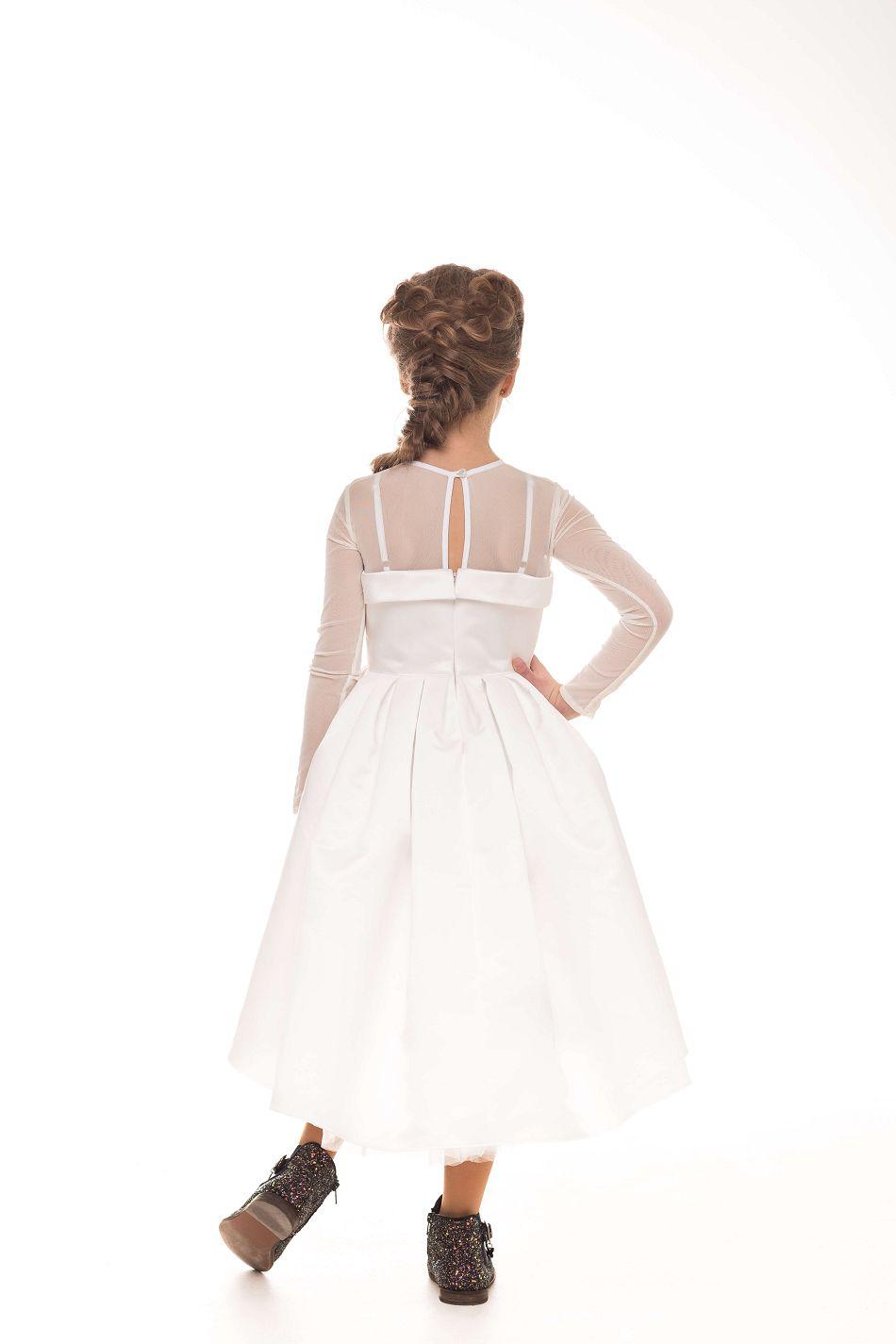 красивое белое платье на девочку