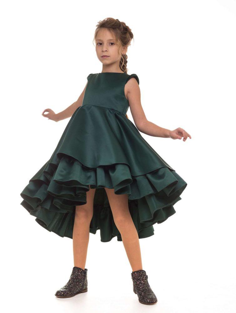 Платье изумрудного цвета на девочку праздничное Malyna