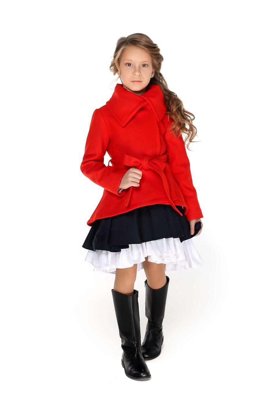 Червоне пальто на дівчинку від malyna