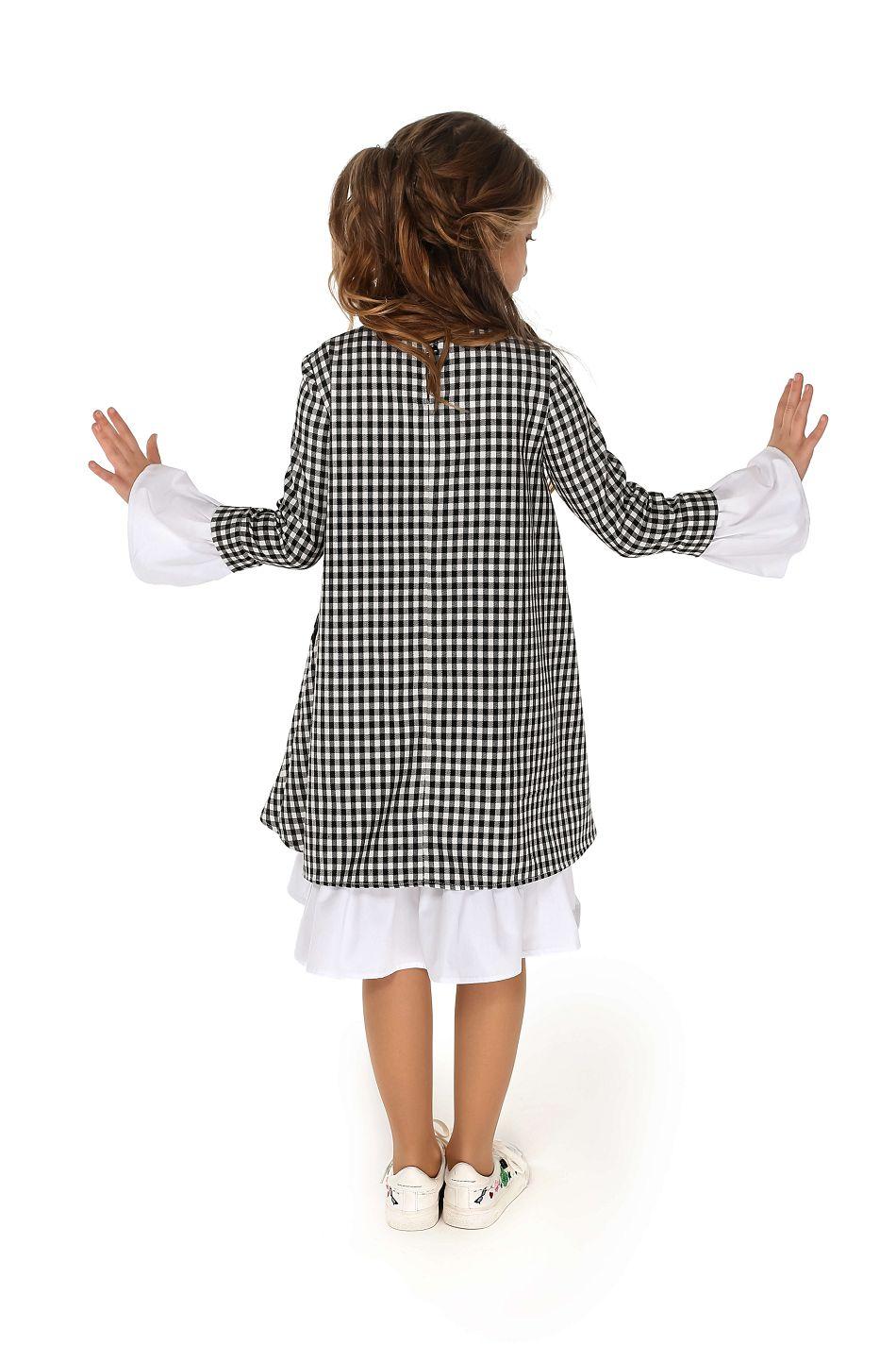 платье в клеточку на девочку