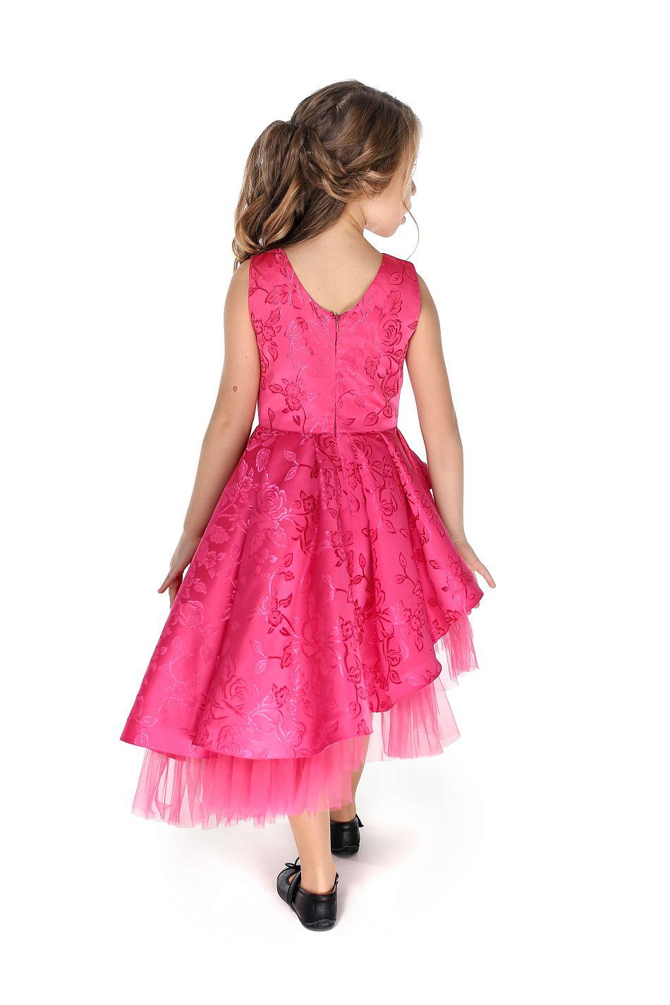 Красивое малиновое платье нарядное на девочку