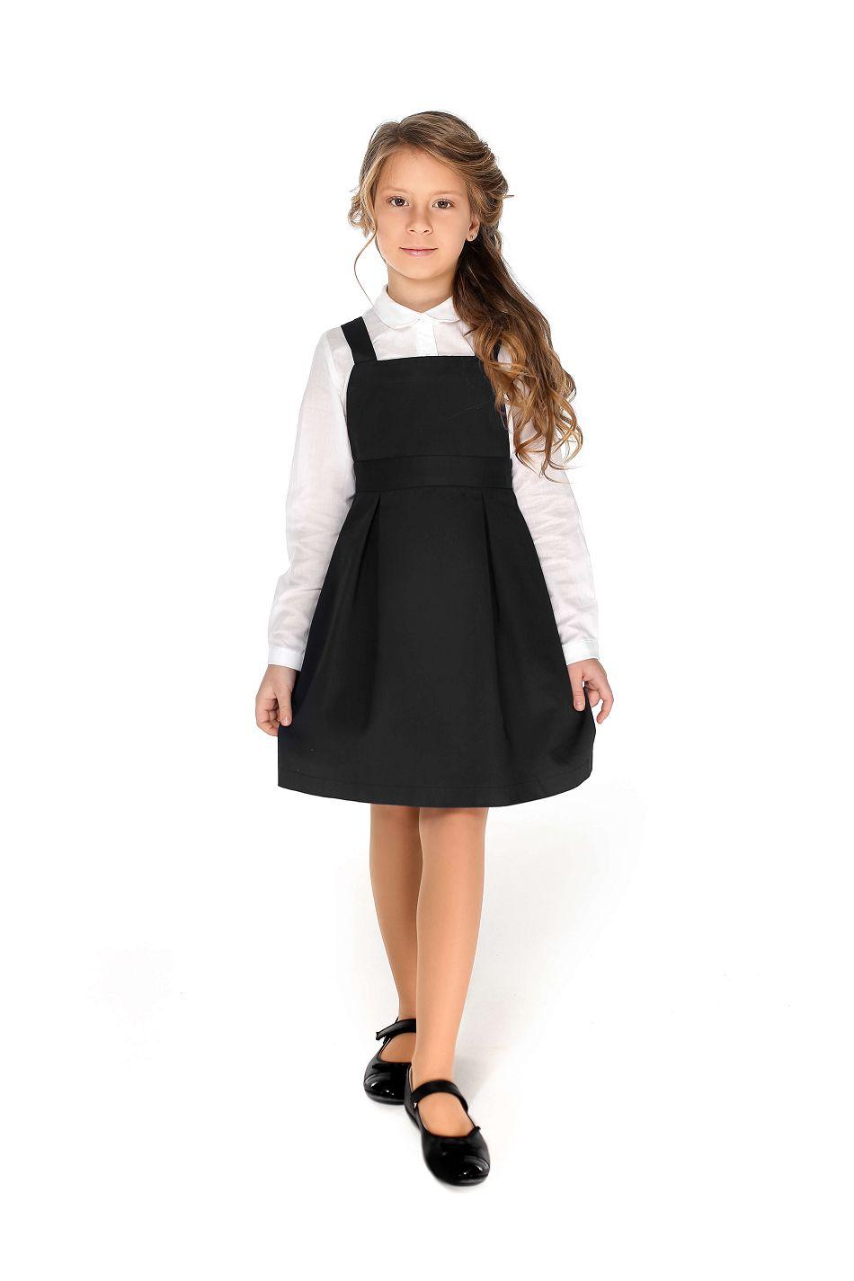 черный сарафан на девочку школьный