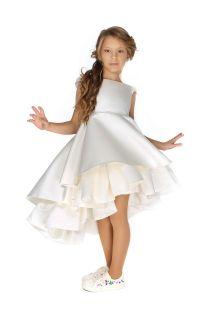 Чарівна біла сукня з воланами на дівчинку від Malyna