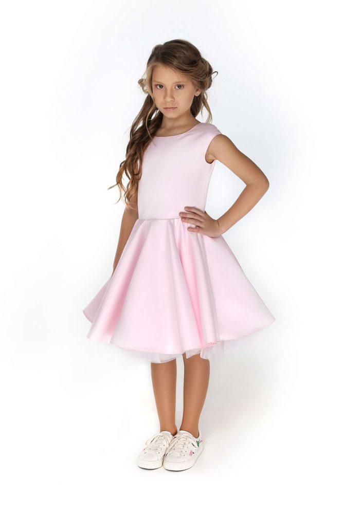 Рожева нарядна сукня для дівчинки від 1 до 12 років