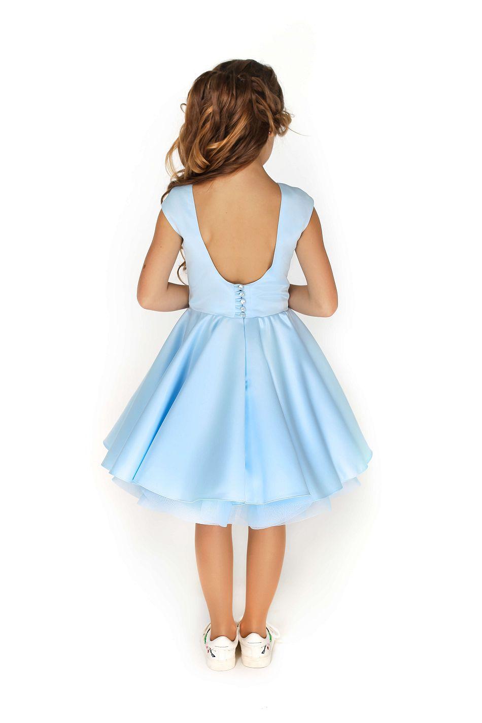 Святкова блакитна сукня на дівчинку замовити онлайн