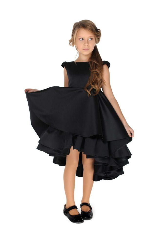 Святкова чорна сукня на дівчинку Волан