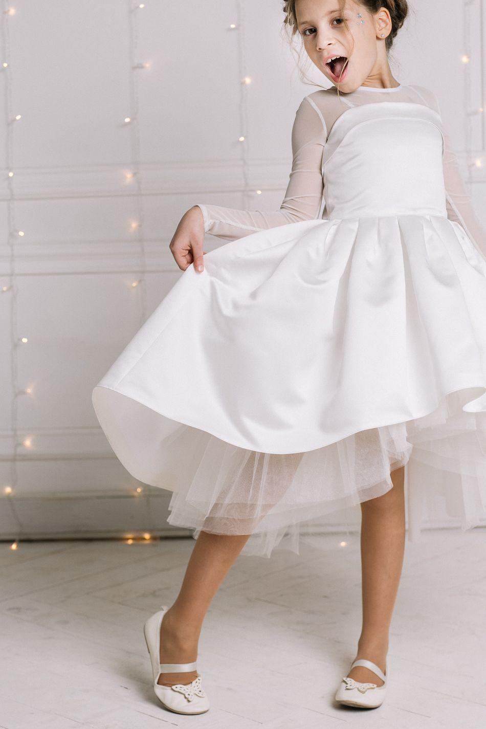 Святкова сукня на дівчинку біла молочна. Біле пишне платтячко на дівчинку c03514effd28a
