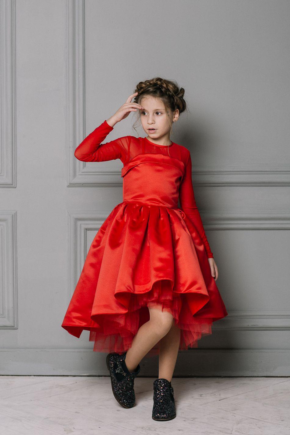 Новогоднее плаье на девочку красное