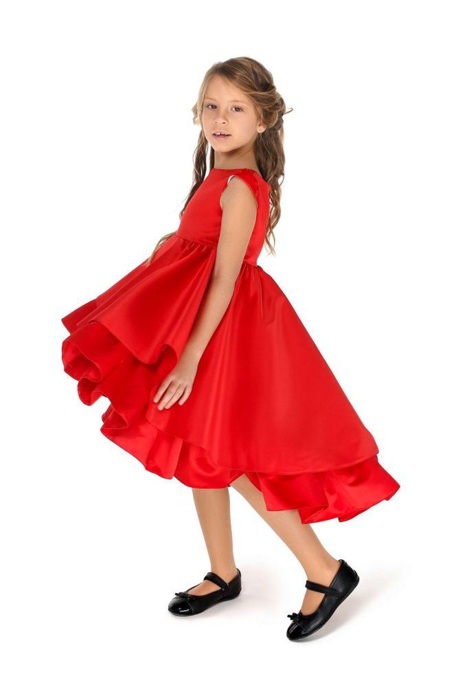 Червона сукня на дывчинку святкова