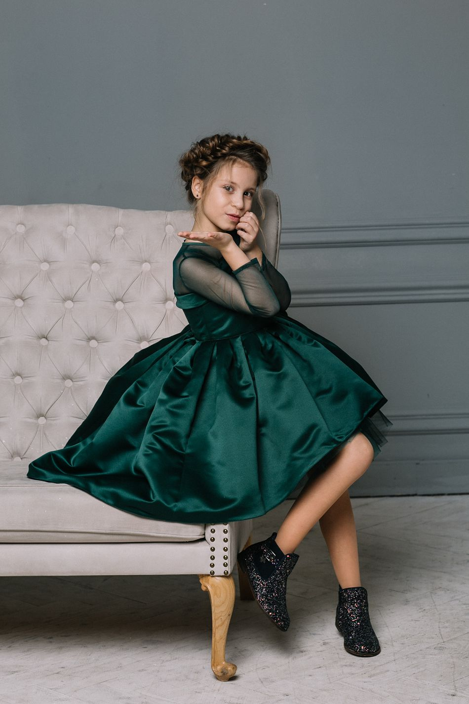 Новогодние платья на девочек Malyna