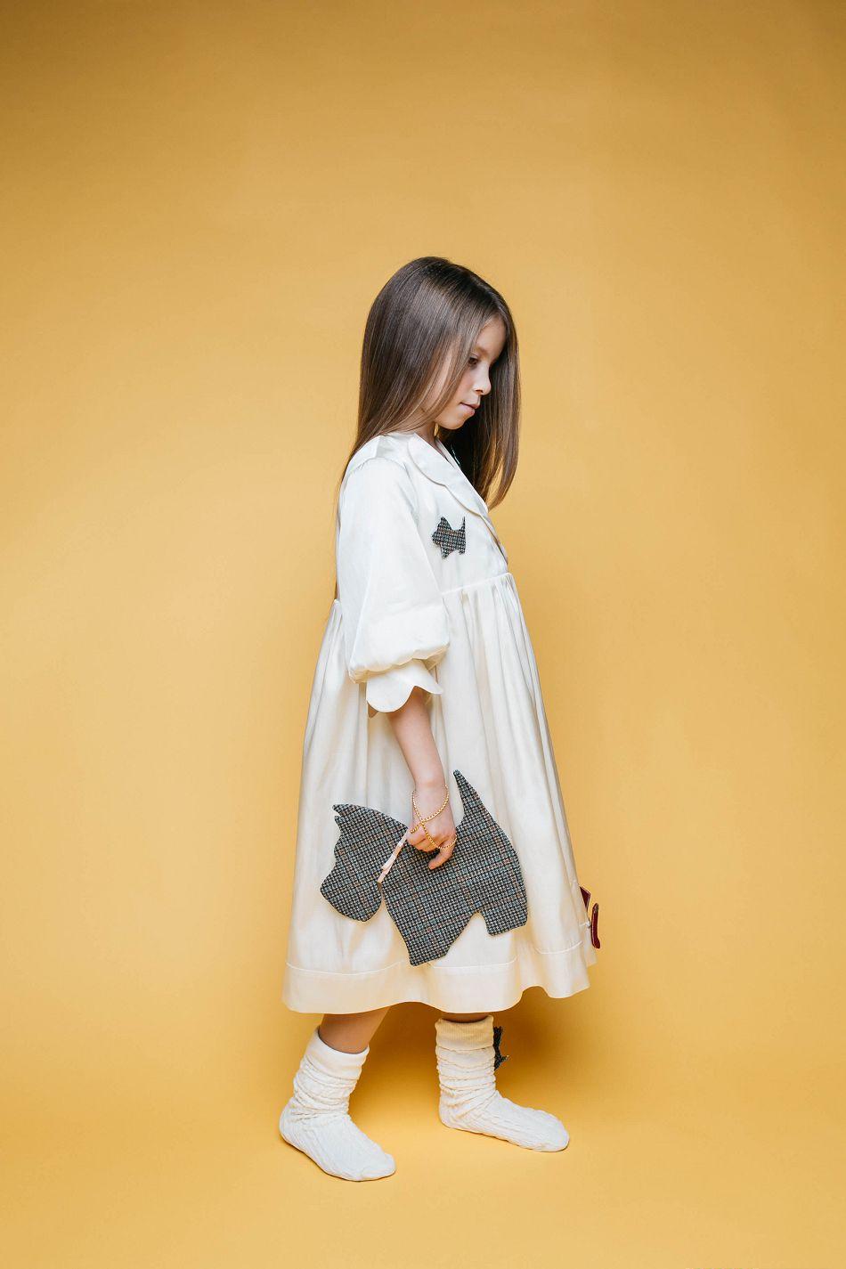 Очень стильное платье на девочку от Malyna