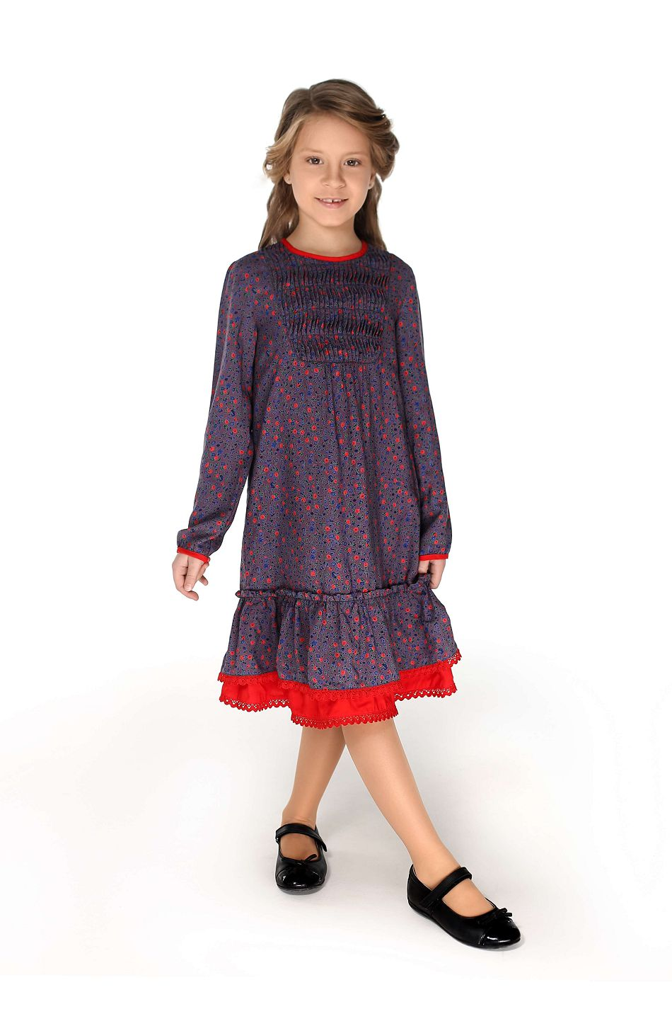 violet casual dress for girls