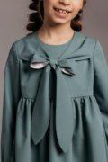 Красивое платье на девочку оливкового цвета - интернет магазин детских платьев Malyna
