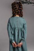 Очаровательное платье на девочку оливкового цвета