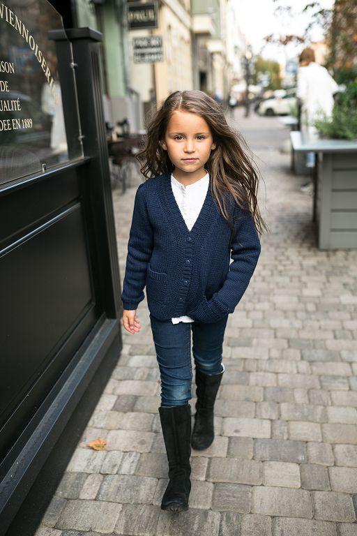 синий кардиган на девочку