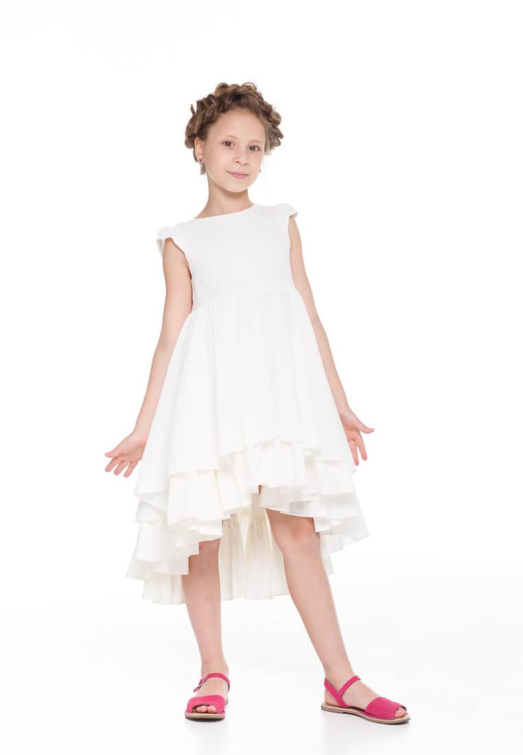 Красивое летнее платье на девочку натуральная ткань