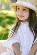 летнее белое платье на девочку