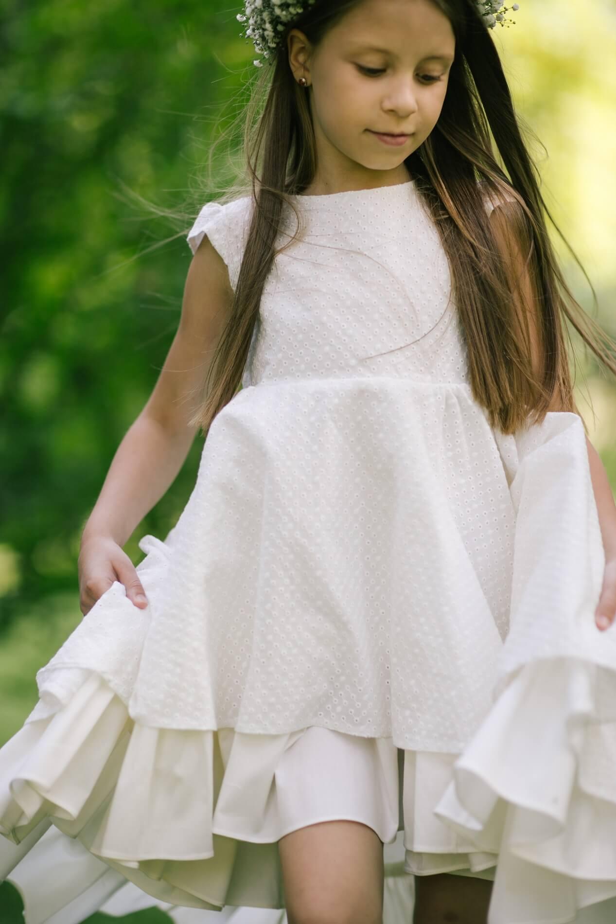 сукня біла лытня на дівчинку святкова - Malyna 45af207d2b464