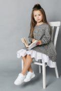 шкільна колекція дитячого одягу - клітинка