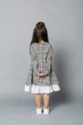 Платье школьное в черную клеточку на девочку