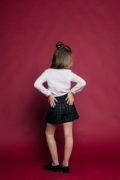 Стильная юбочка-шорты на девочку в школу
