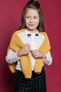 Теплый свитер горчичный ля девочки - интернет магазин одежды для девочек