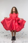 платье кораллового цвета на девочку