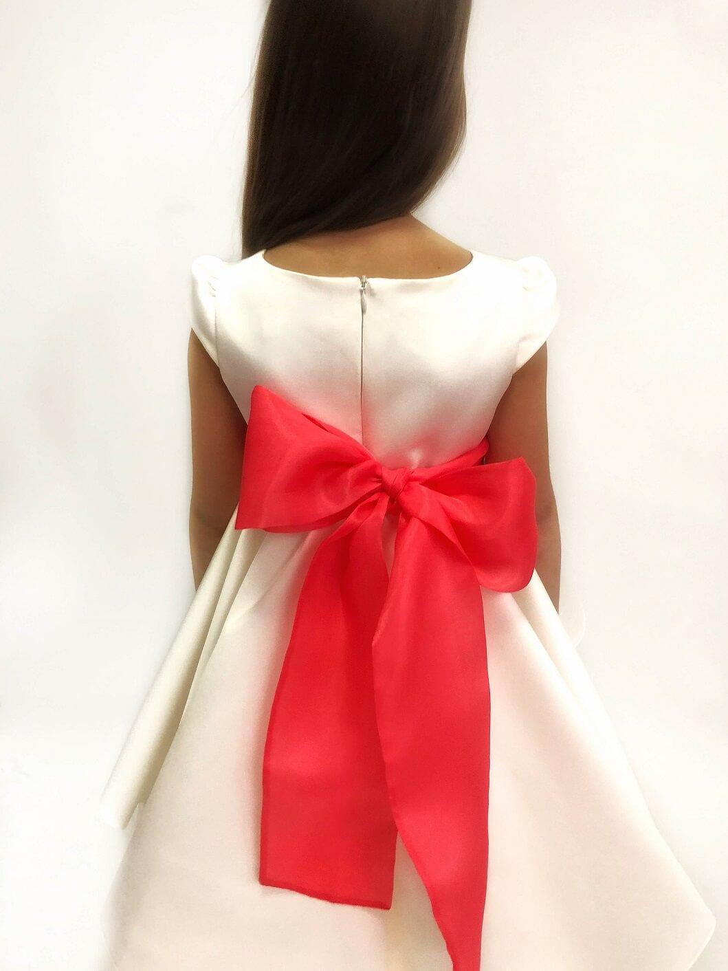 картинки платье белое с бантом