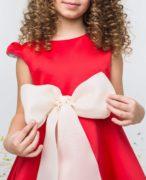 бант молочного цвета на платье
