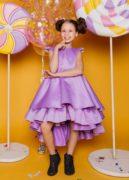 нарядна фіолетова сукня на дівчинку