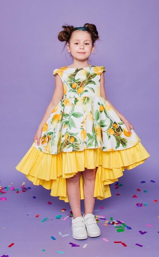 плаття на дівчаток з лимонами