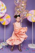 персикова сукня на дівчинку нарядна