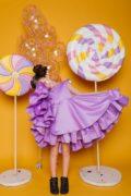 пишна фіолетова сукня на дівчинку