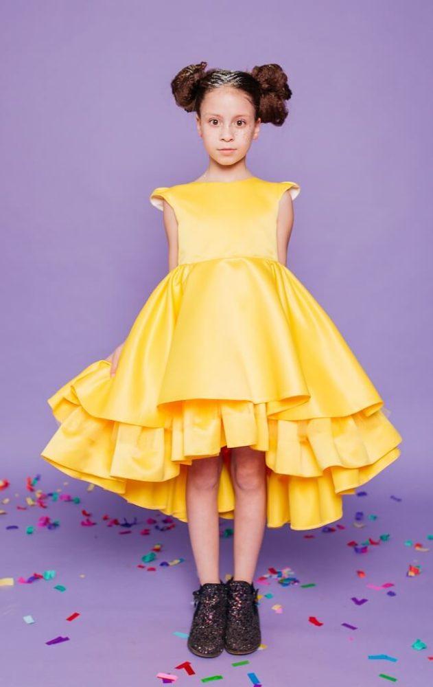 святкове плаття на дічинку жовтого кольору
