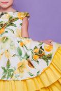 чарівна сукня з лимонами для дівчаток від 4х до 12 років