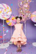 персикове нарядне плаття на дівчинку